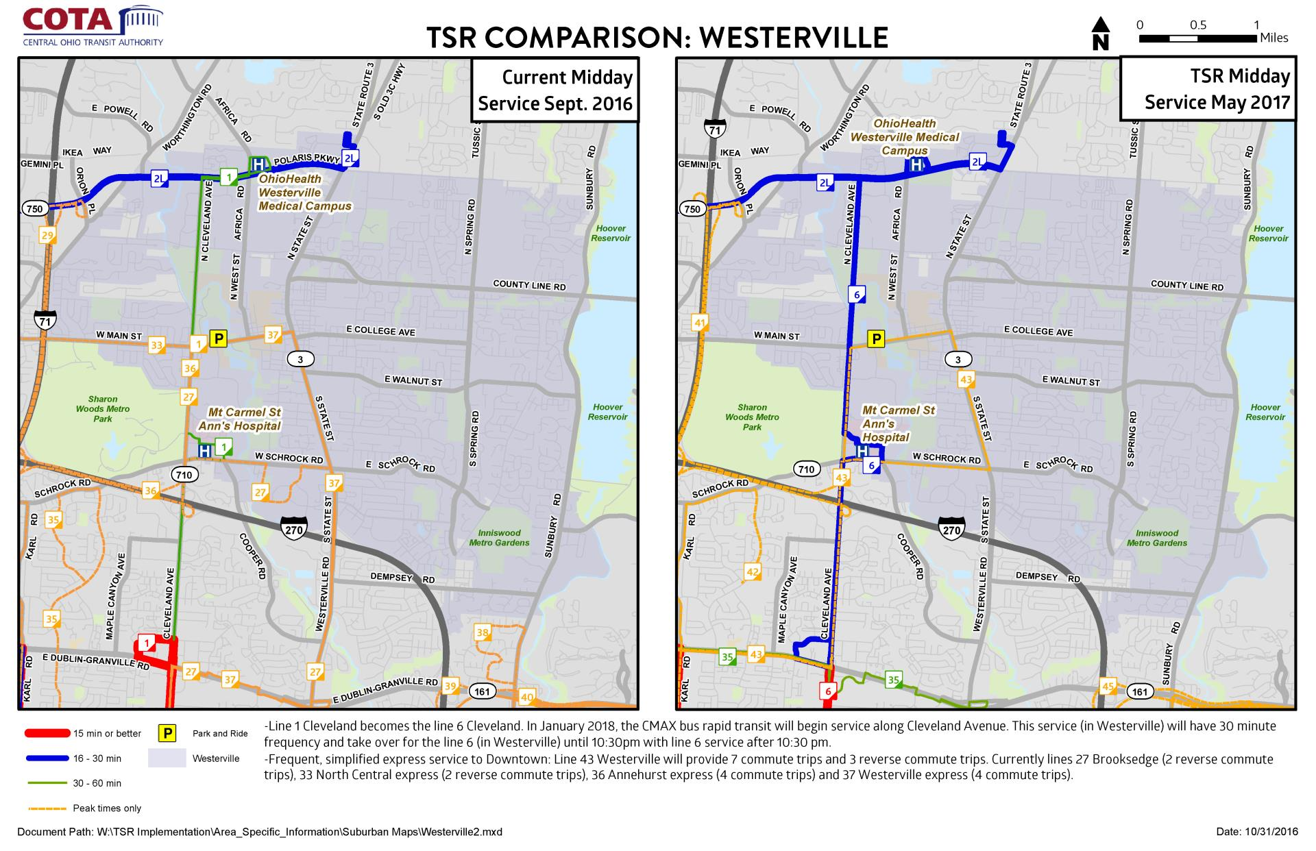 cota expands bus network news city of westerville oh