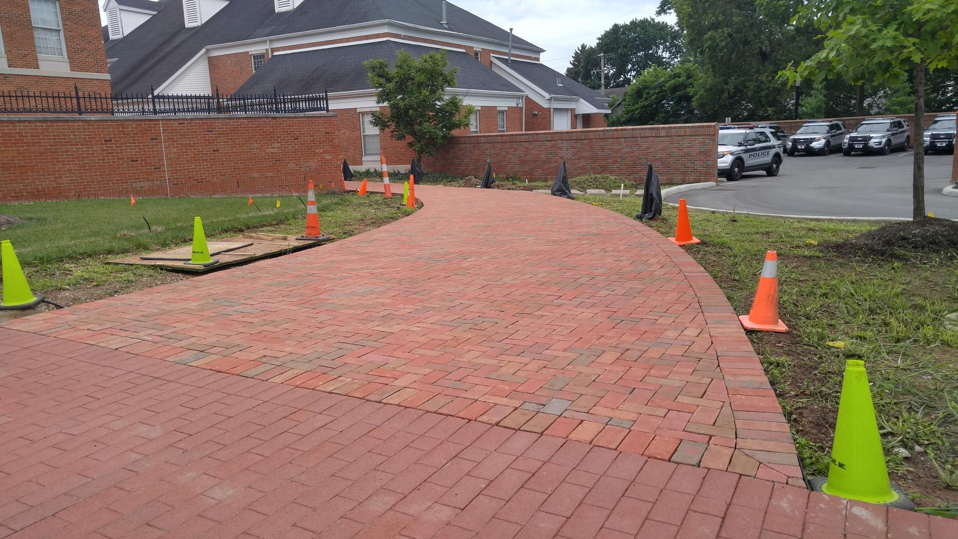 WPD Walkway Brickwork is Complete