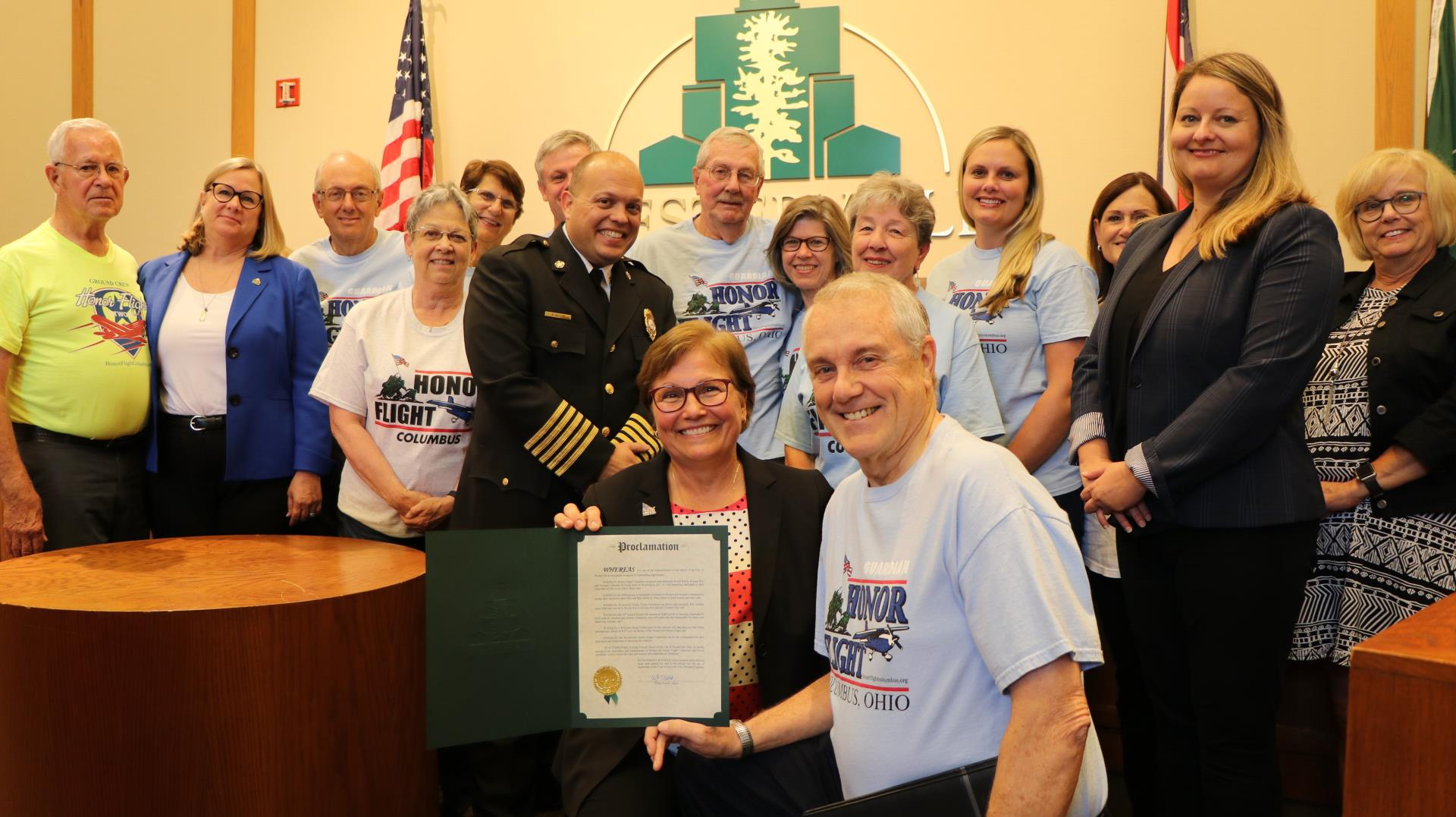Rock Lantz and the Westerville Honor Flight Committee