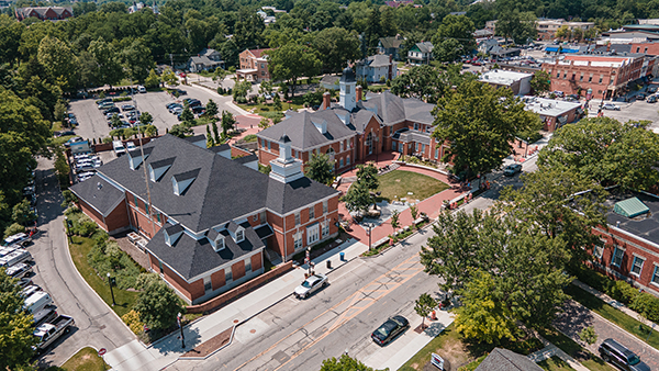 Aerial of Uptown Improvements the week of 6.19