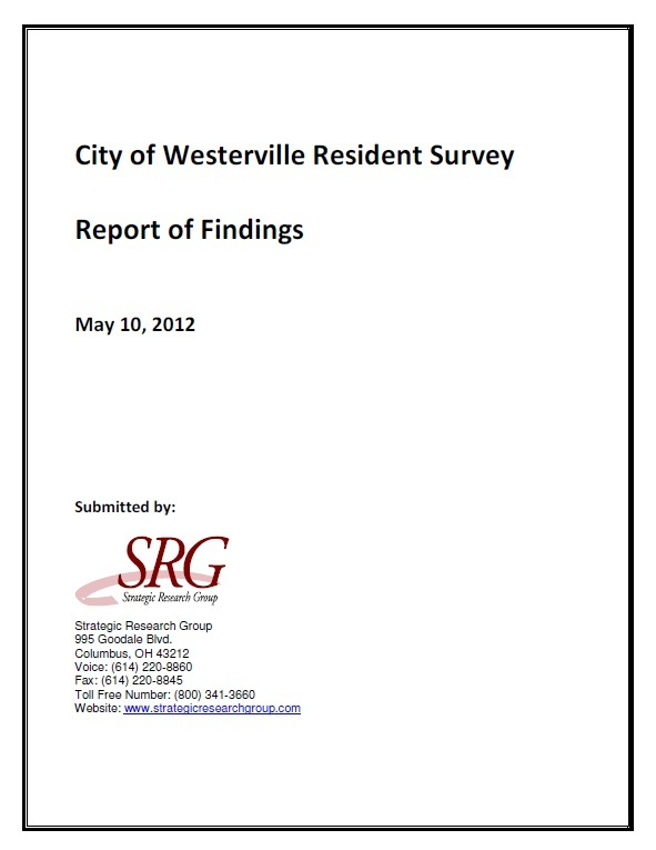 2012 Community Survey Cover Page