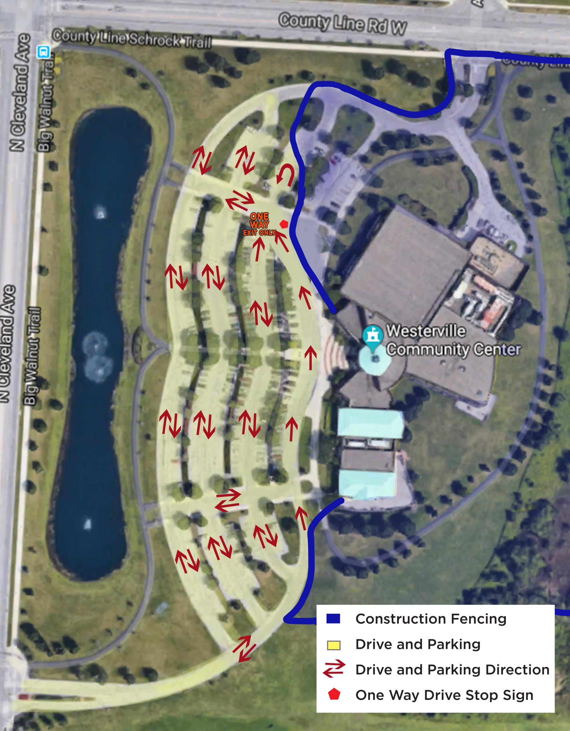 Community Center Map for parking