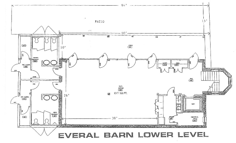 City of Westerville OH Everal Barn and Homestead Floor PlansSet up