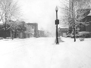 Snow - Uptown in snow 1920s or 30s